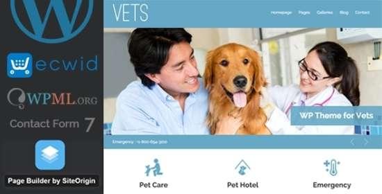 vets veterinary medical health clinic wp theme
