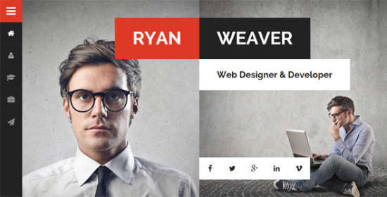 divergent personal vcard resume wordpress theme