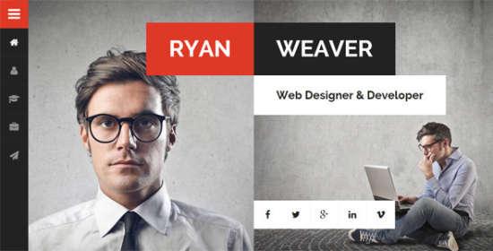 divergent personal vcard resume wordpress theme