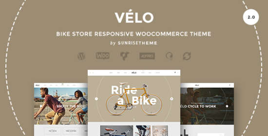 velo bicycle store responsive business theme