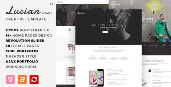 lucian multiconcept creative html5 template
