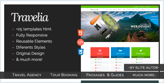 travelia travel package html5 template