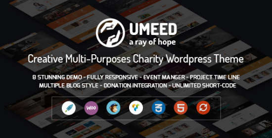 umeed charity wordpress multipurpose theme