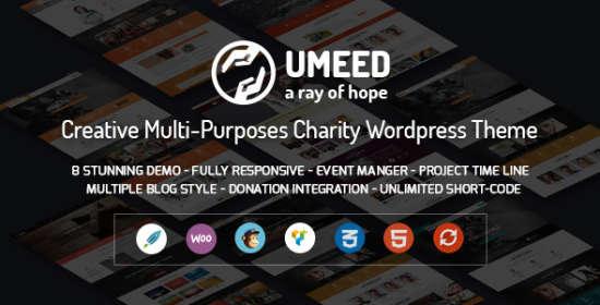 umeed charity wordpress multipurpose theme