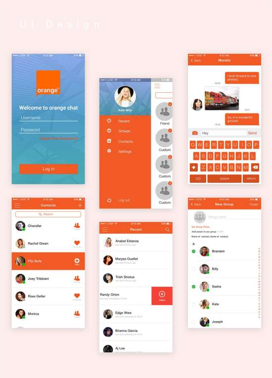 orange_chat_free_mobile_app_ui_psd