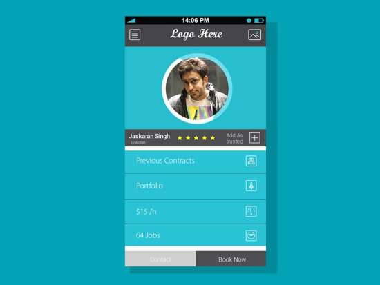 profile_screen_for_mobile_app_free_psd