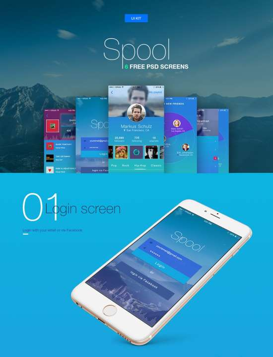 spool_free_mobile_app_ui_kit_psd