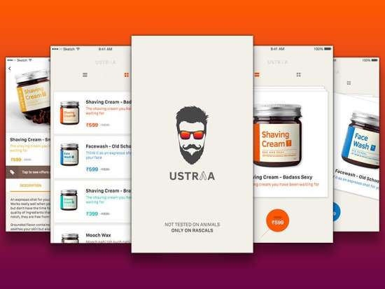 ustraa_ios_mobile_app