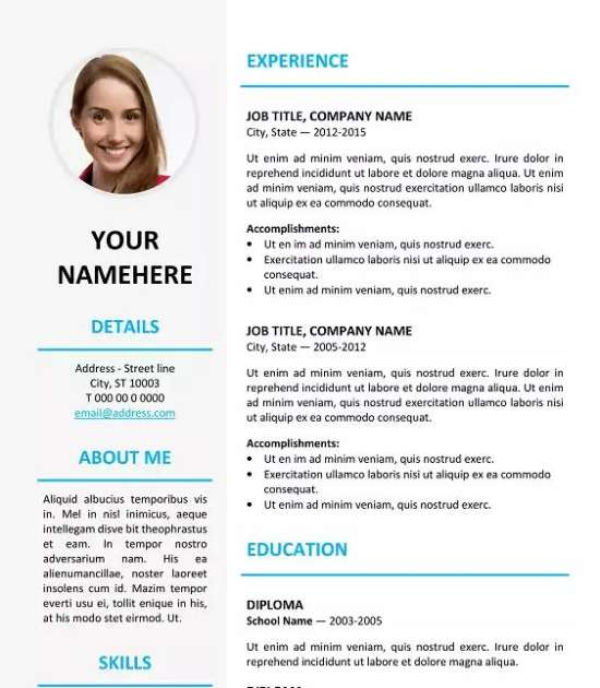 ikebukuro elegant resume template - Professional Resume Samples In Word Format