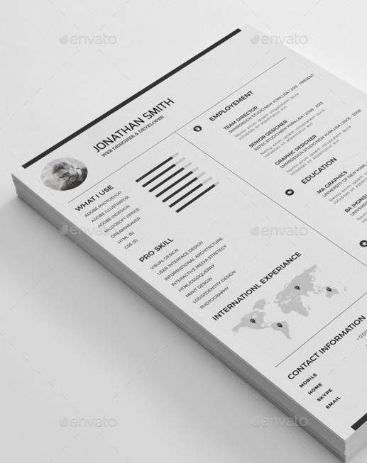 Simple and minimal Resume template