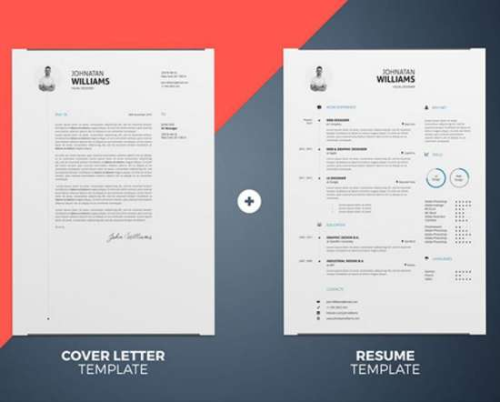 Well Designed Resume Templates In InDesign And MS Word (INDD, DOC)  Resume Word Document Template