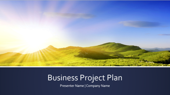 free business project plan template