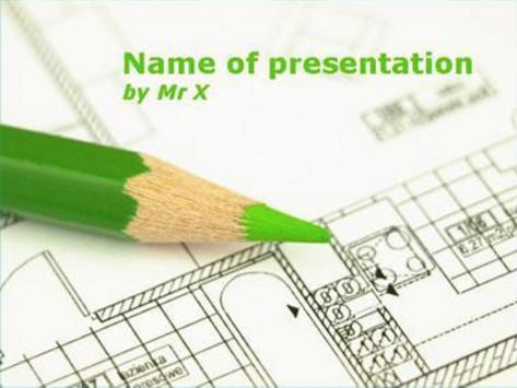 Green Pen Powerpoint Template