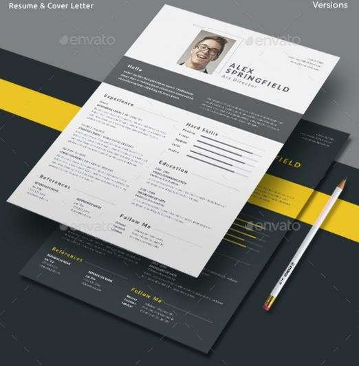 resume word cv template with super modern and professional look - Attractive Resume Templates Free Download
