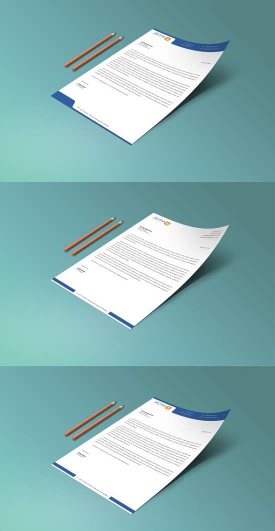 Download 15 free letterhead templates xdesigns for Stationery templates psd