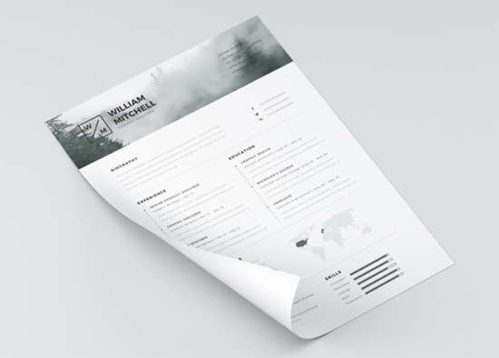 free_minimalist_clean_resume_template