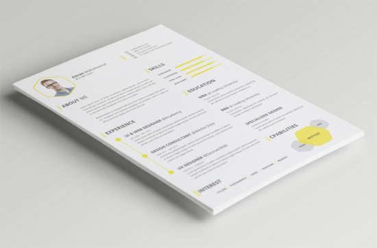 free_psd_cv_resume_template