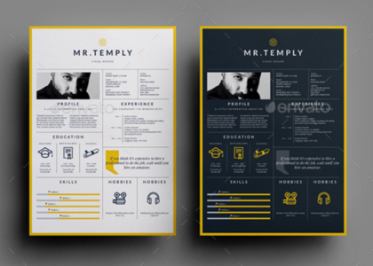 Download 35 free creative resume cv templates xdesigns visual resume template is a a4 us letter indesign template for individuals working in creative fields that require adding images to their written cv yelopaper Images