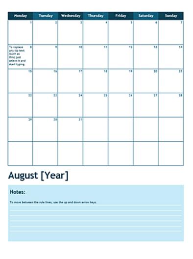 13 Free Blank Calendar Templates Xdesigns