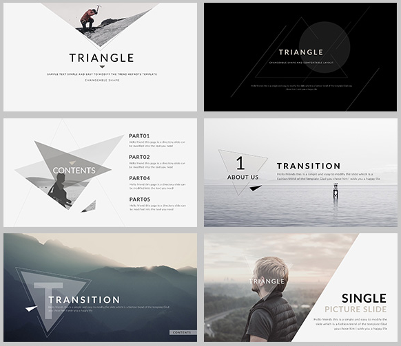 50 free and premium keynote presentation templates xdesigns triangle elegant keynote template toneelgroepblik Choice Image