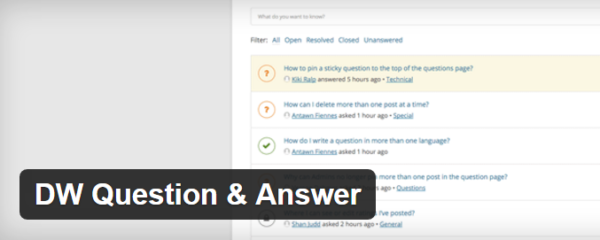 DW Question & Answer WordPress plugin