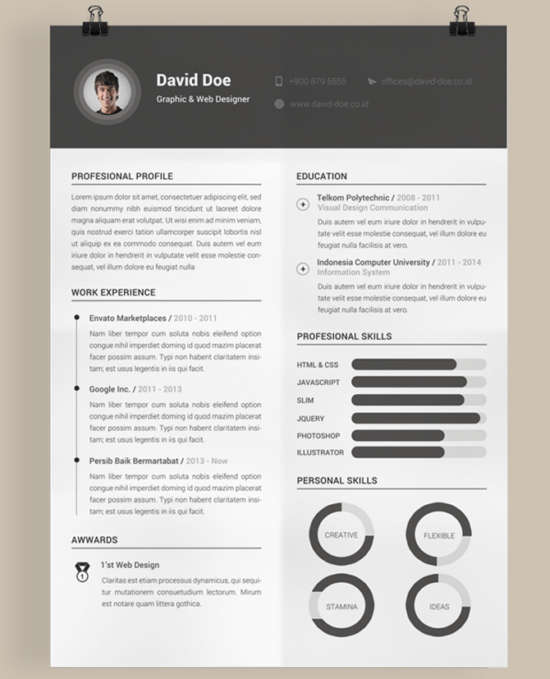 30 free professional resume templates for designers xdesigns