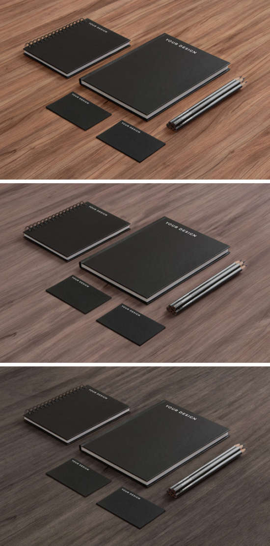 stationery_mockup_black_paper_on_wood