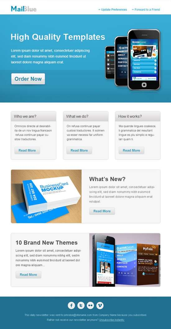 Download  Free Email Templates  Xdesigns