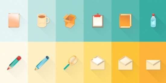 free_new_set_of_material_design_stationary_icons
