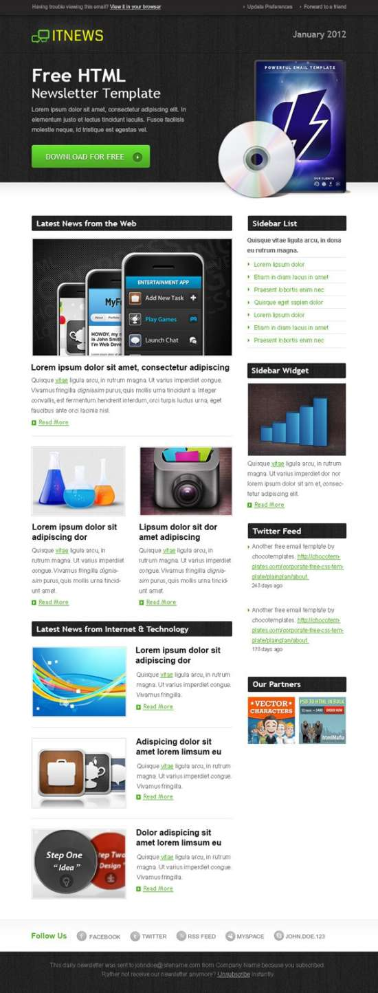 download 60 free email templates xdesigns
