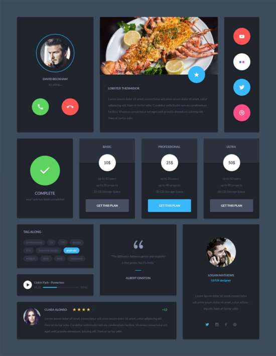 material_design_dark_ui_kit