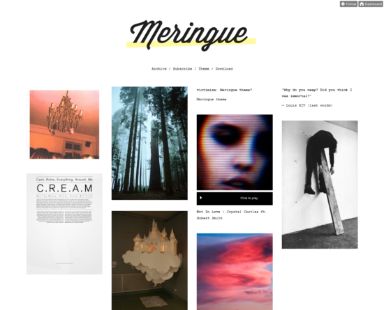 meringue tumblr theme