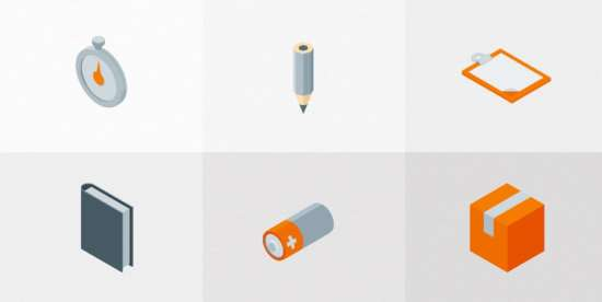 set_of_free_isometric_material_icons_vol