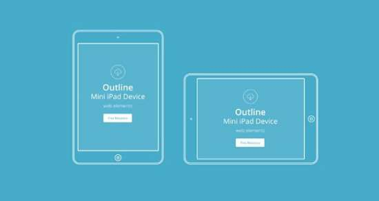 vector_apple_outline_device_psd