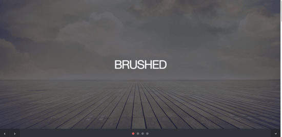 brushed _bootstrap _template