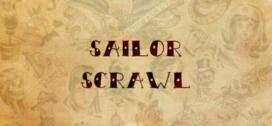 sailor_scrawl_tattoo_font