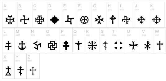 crux_tattoo_font