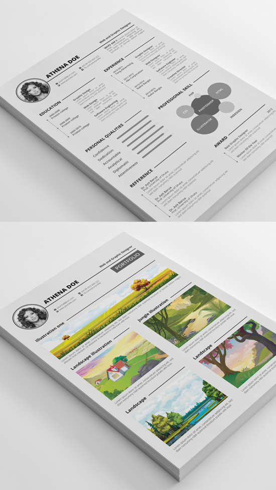 free_modern_resume_psd_template