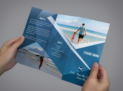 new free travelling trifold brochure template
