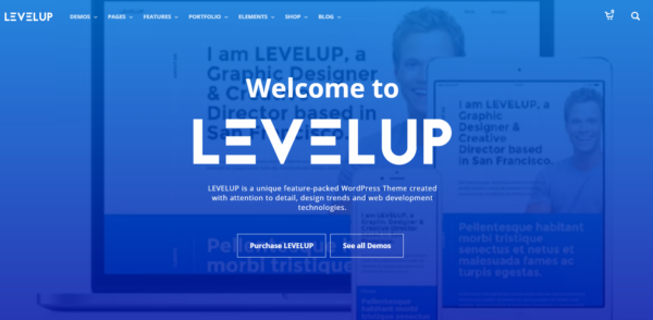 LEVELUP beautiful fullscreen wordpress theme