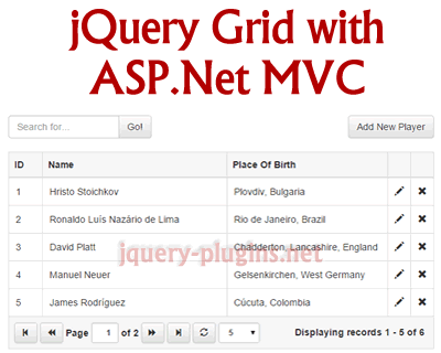 18 jQuery Data Tables & Spreadsheet - XDesigns