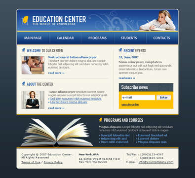 free_educational_center_template