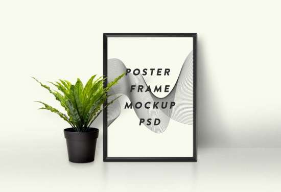 picture_frame_and_plant_mockup