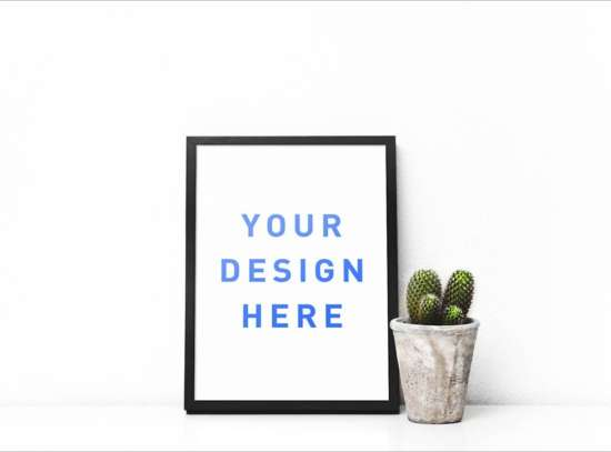 picture_frame_and_cactus_mockup