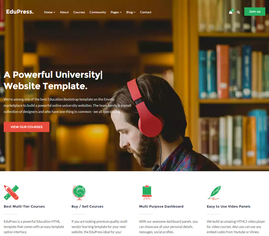 40+ Free HTML/CSS Education Website Templates - XDesigns