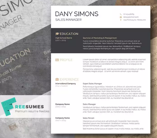Modern free resume template demirediffusion download 35 free creative resume cv templates xdesigns maxwellsz