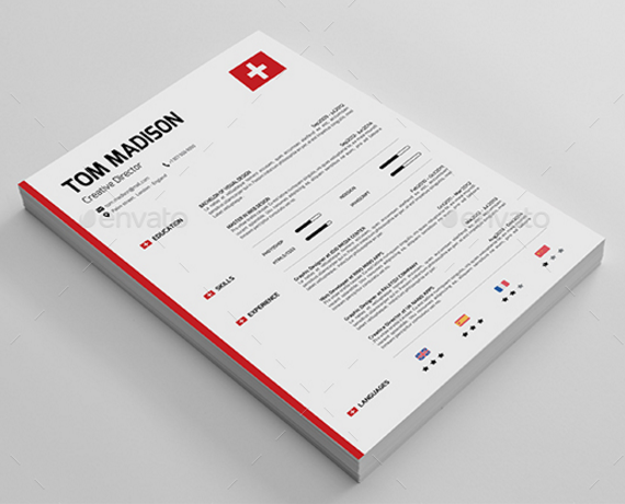Download 35 free creative resume cv templates xdesigns swiss resume yelopaper Image collections