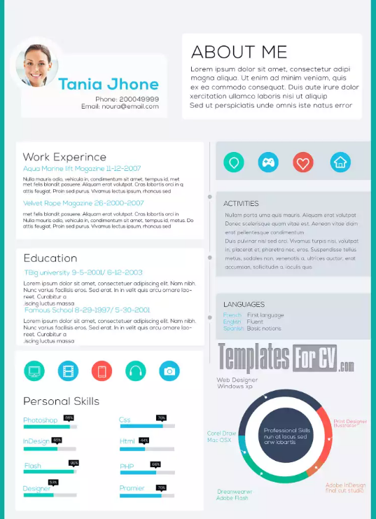 Executive CV Tania Jhone Modern Resume