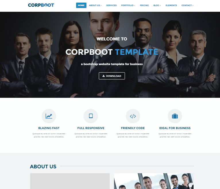 Download 50 free csshtml business website templates xdesigns nina minimalist business portfolio template wajeb Images