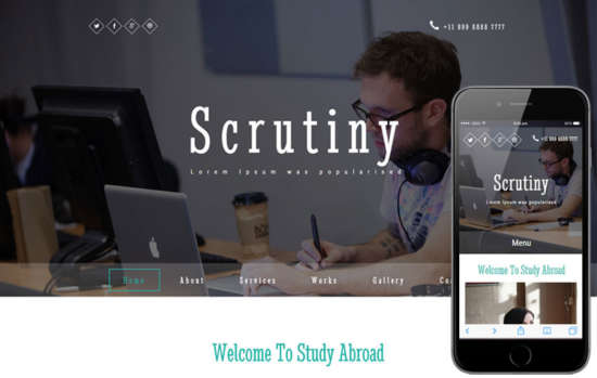 scrutiny_education_category_responsive_web_template
